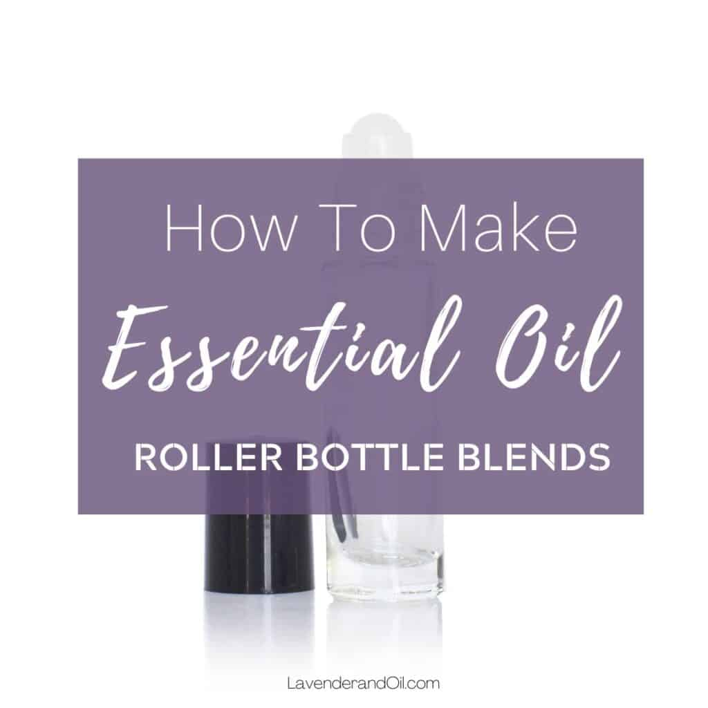 clear glass essential oil bottle