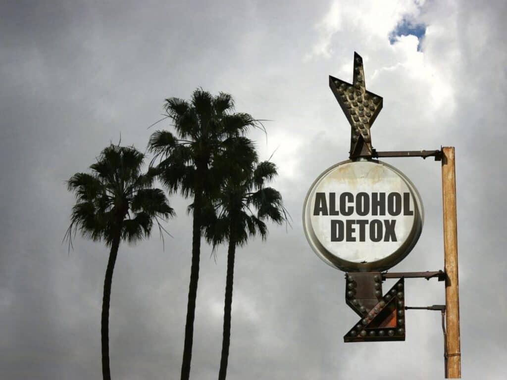 alcohol detox sign outside