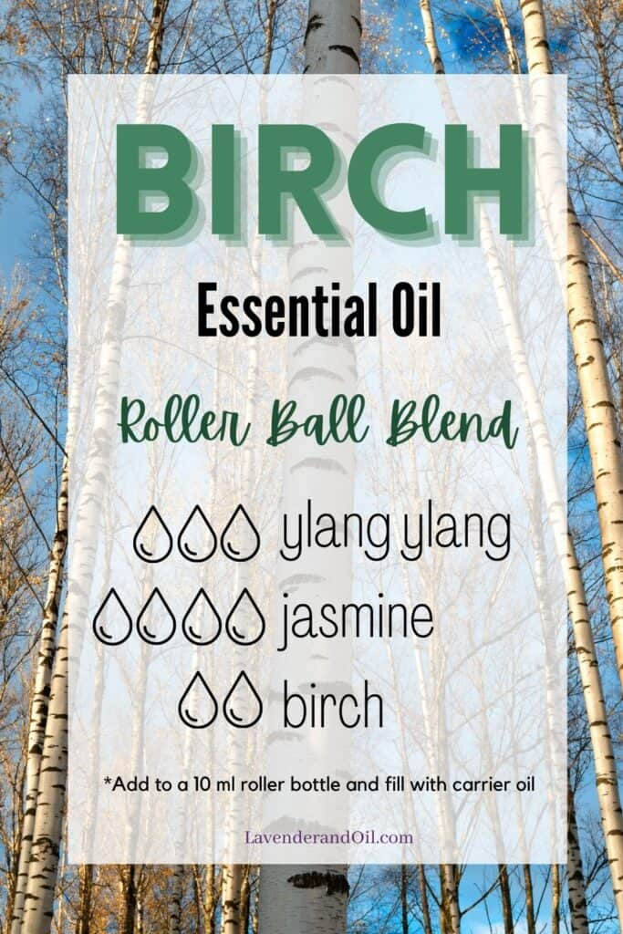 birch essential oil blend with ingredients